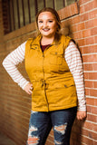 Mustard Fur-Lined Curvy Hooded Vest - Face 2 Soul Beauty Boutique
