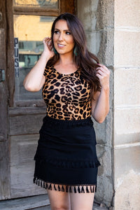 Leopard Short Sleeve Body Suit - Face 2 Soul Beauty Boutique