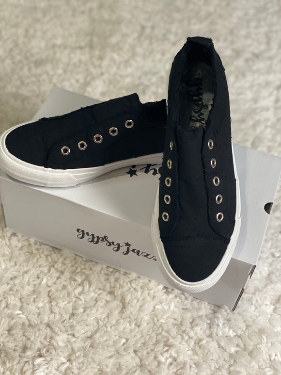 Black Gypsy Jazz Playful Sneakers - Face 2 Soul Beauty Boutique
