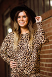 Wildest Dreams Taupe Leopard Relaxed Fit Top - Face 2 Soul Beauty Boutique