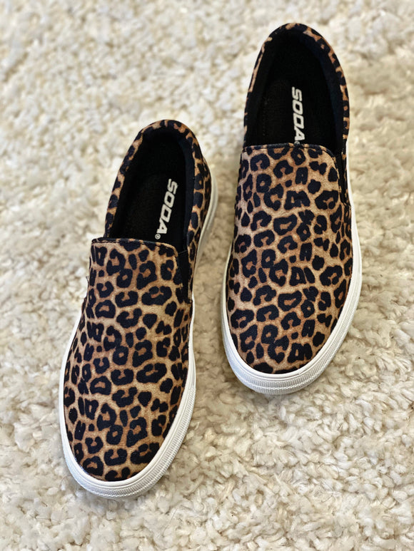 Cheetah Soda Sneakers - Face 2 Soul Beauty Boutique