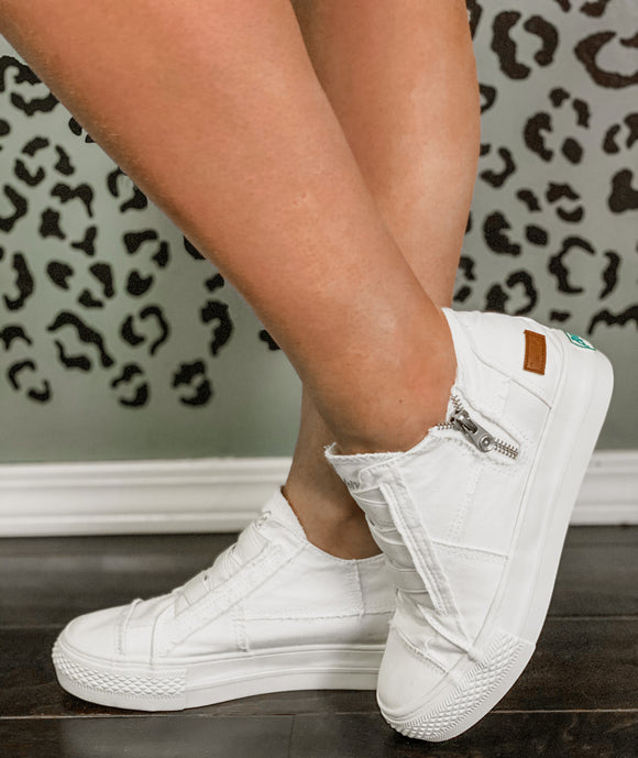 White Color Washed Blowfish Mamba Sneaker - Face 2 Soul Beauty Boutique