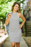 Full of Happiness Ivory Striped Dress - Face 2 Soul Beauty Boutique