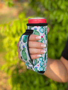 Succulents Slim Can Koozie with Handle - Face 2 Soul Beauty Boutique