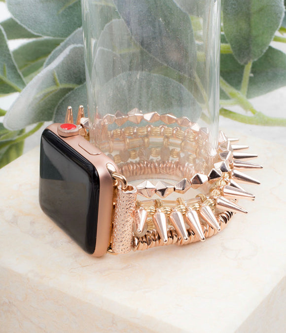 Rose Gold Studded Smart Watch Band - Face 2 Soul Beauty Boutique