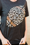 Leopard Football Tee - Face 2 Soul Beauty Boutique