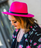 Black & Neon Pink Leopard Cardigan - Face 2 Soul Beauty Boutique