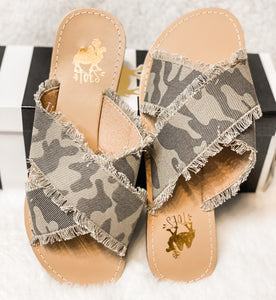 The Camo Camel Threads Sandals - Face 2 Soul Beauty Boutique