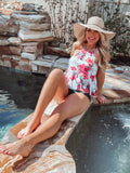 Floral 2-Piece Tankini Swimsuit - Face 2 Soul Beauty Boutique