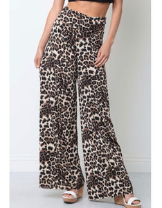 Leopard Palazzo Pants - Face 2 Soul Beauty Boutique