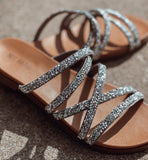 The Silver Eliana Sandals - Face 2 Soul Beauty Boutique