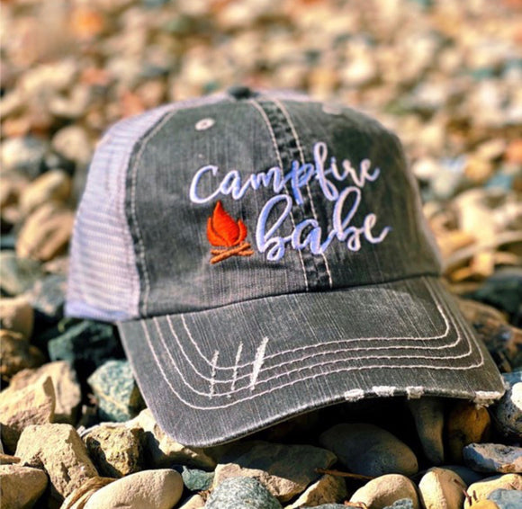 Campfire Babe Trucker Hat - Face 2 Soul Beauty Boutique