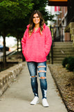 Ready For Fall Nights Hot Pink Sherpa Pullover - Face 2 Soul Beauty Boutique