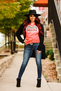 Merry Christmas Bleach Wash Tee - Face 2 Soul Beauty Boutique