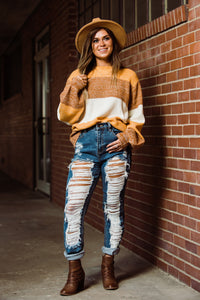 High-Rise Destroyed Cuffed Mom Jeans - Face 2 Soul Beauty Boutique