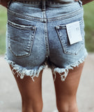 The Gaylee High Rise Button Up Shorts - Face 2 Soul Beauty Boutique