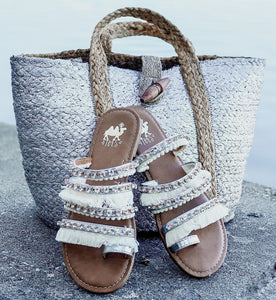 Sterling White Boho Camel Sandals - Face 2 Soul Beauty Boutique