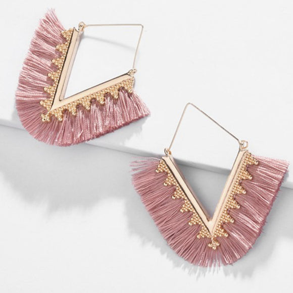 Mauve Pink Erica Earrings