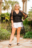 White Mid Rise Curvy Distressed Shorts - Face 2 Soul Beauty Boutique