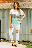 Mint Camo Block Shortsleeve - Face 2 Soul Beauty Boutique