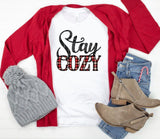 Stay Cozy Plaid Crew Neck Tee - Face 2 Soul Beauty Boutique