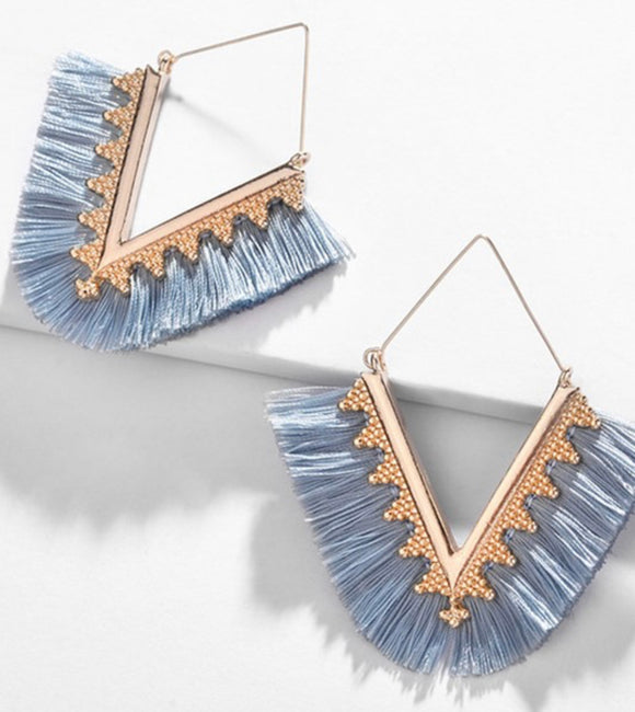 The Blue Erica Earrings - Face 2 Soul Beauty Boutique