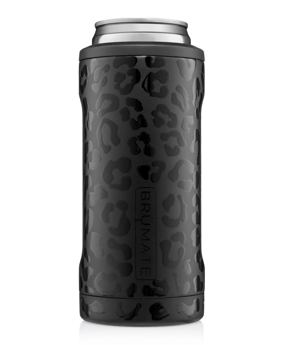Onyx Leopard Hopsulator Slim Can Cooler - Face 2 Soul Beauty Boutique