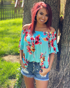 Summer Vibes Off The Shoulder Top - Face 2 Soul Beauty Boutique