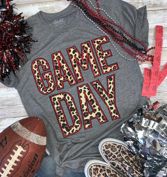 Red Glitter Game Day Tee - Face 2 Soul Beauty Boutique