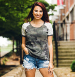 Crazy About Camo Shortsleeve - Face 2 Soul Beauty Boutique