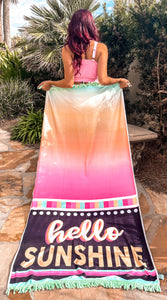 Hello Sunshine Beach Towel - Face 2 Soul Beauty Boutique