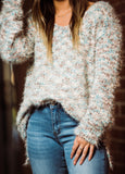Staying Comfy Yarn Sweater w/ Side Slits - Face 2 Soul Beauty Boutique