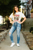 The Molly Mid Rise Distressed Patched Crop Skinny - Face 2 Soul Beauty Boutique