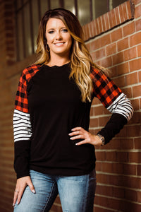 Pretty in Plaid Longsleeve - Face 2 Soul Beauty Boutique