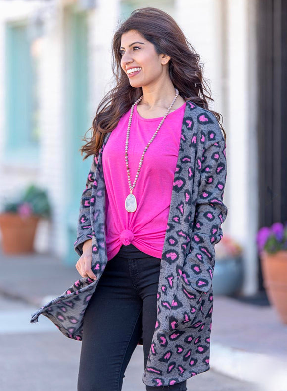 Mommy & Me Pink Panther Cardigan - Face 2 Soul Beauty Boutique