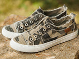 Camo Canvas Sneakers - Face 2 Soul Beauty Boutique