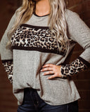 Love Me Fiercely Leopard Block Longsleeve - Face 2 Soul Beauty Boutique