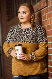 Mustard & Leopard Block Longsleeve - Face 2 Soul Beauty Boutique