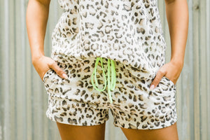 Leopard Neon Lounge Shorts - Face 2 Soul Beauty Boutique