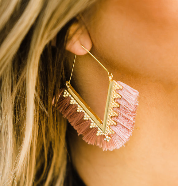 Mauve Pink Erica Earrings - Face 2 Soul Beauty Boutique