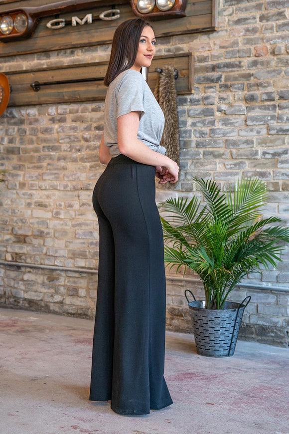 Black Palazzo Pants - Face 2 Soul Beauty Boutique