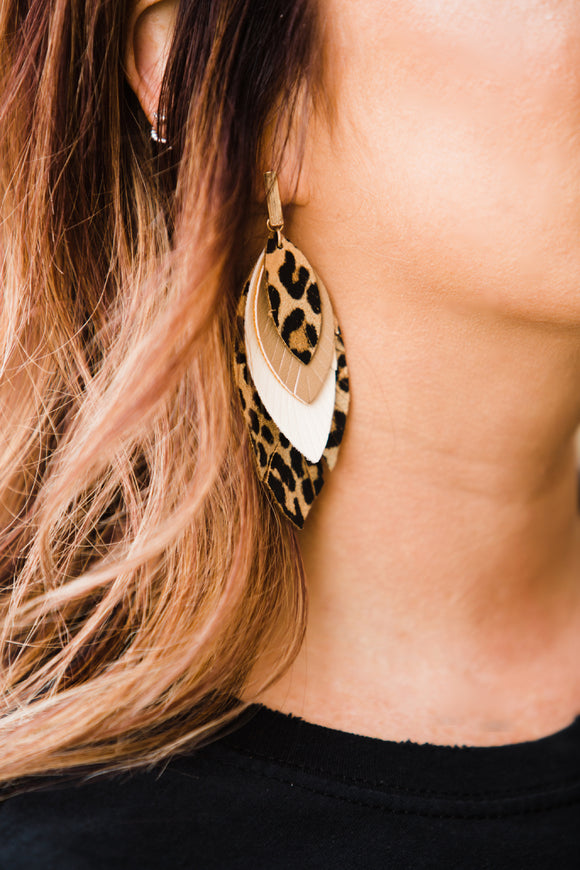 Leopard Stack Earrings - Face 2 Soul Beauty Boutique