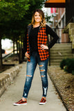 Red Buffalo Plaid Reversible Vest