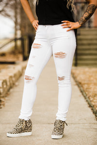 The White Distressed Skinnies - Face 2 Soul Beauty Boutique