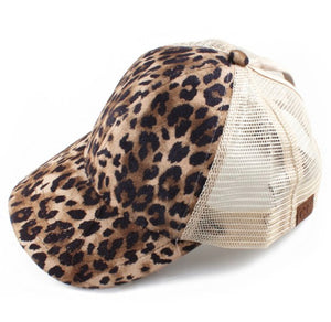 Leopard Ponytail Baseball Cap - Face 2 Soul Beauty Boutique