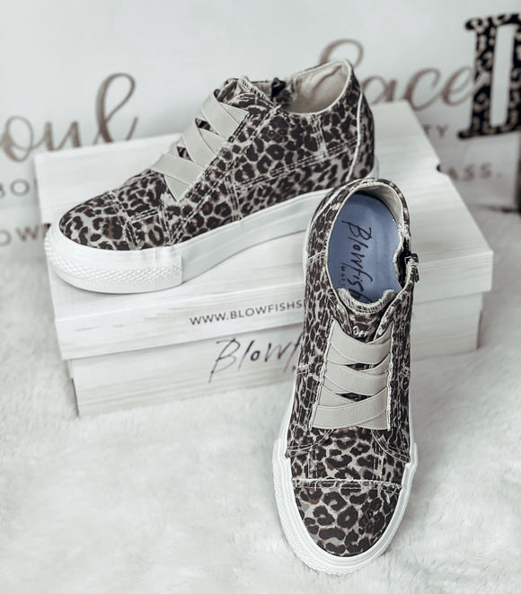 Leopard Mamba Blowfish Sneakers - Face 2 Soul Beauty Boutique
