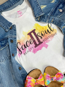 White F2SB New Logo Tee - Face 2 Soul Beauty Boutique