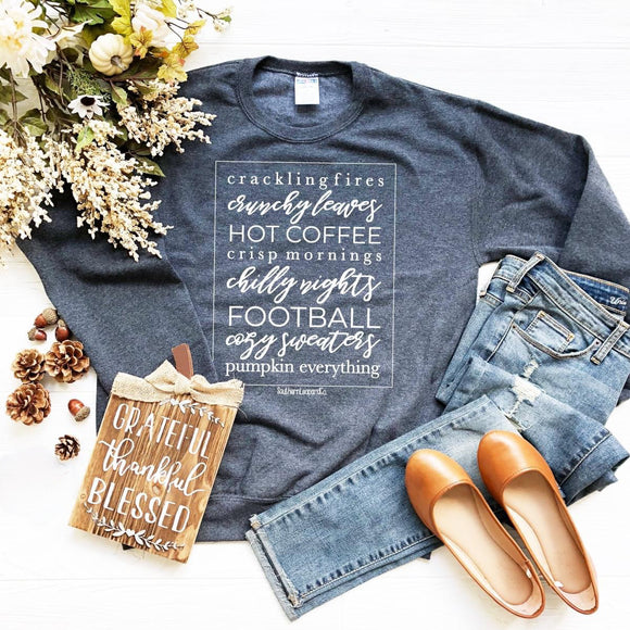 All Things Fall Sweatshirt - Face 2 Soul Beauty Boutique