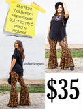 Leopard Bell Bottoms - Face 2 Soul Beauty Boutique