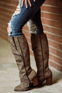 Taupe Valda Boots - Face 2 Soul Beauty Boutique